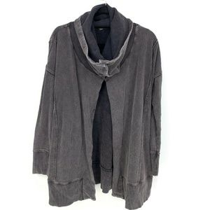 Free People Open Front Funnel Neckline Cardigan